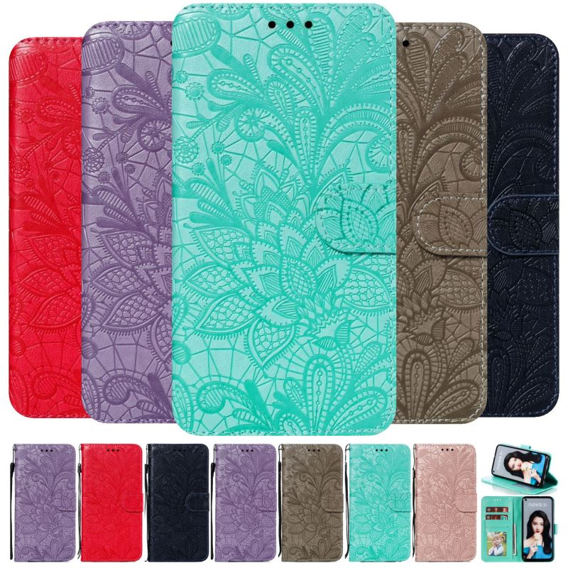Cute Lace Pattern Flip <font><b>Fundas</b></font> For <font><b>Nokia</b></font> 2 3 5 7 <font><b>8</b></font> 2018 2.1 7.1 Stand Phone Case 1 Plus 4.2 2019 Capa 3.1 5.1 6.1 <font><b>8</b></font>.1 Plus P13F image