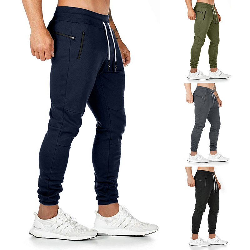 2020 New Men Running Pants Sport Joggers Trousers Running Pants Pockets Athletic Fitness Workout Pant Training Pant Gym Trousers