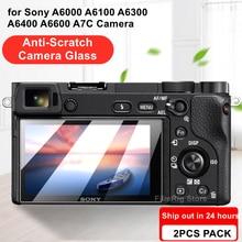 2Pcs Camera Originele 9H Camera Gehard Glas Lcd Screen Protector Voor Sony Alpha A6000 A6100 A6300 A6400 A6600 a7C Camera