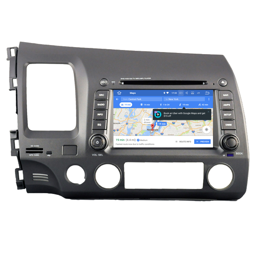 RoverOne Car Radio Stereo For <font><b>Honda</b></font> For Civic 2006 - 2011 Android 9.0 Octa Core DVD GPS Navigation Central <font><b>Multimidia</b></font> PhoneLink image