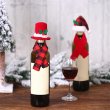 Wine Bottle Cover Christmas Decorations For Home Dinner Party Table Decors Santa Claus Snowman Gift Navidad Xmas Party Supplies(China)