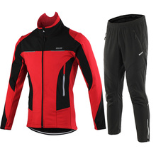 Cycling-Jacket-Set Bicycle ARSUXEO Mtb-Pants Thermal-Bike-Clothing Reflective Waterproof