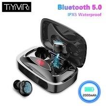 TiYiViRi TWS отпечатков пальцев Touch Bluetooth 5,0 наушники настоящие стерео беспроводные наушники-вкладыши с 2000 мАч зарядная коробка