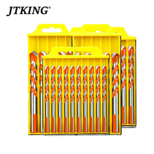 цена на Professional Carbide Drill Bit Set 6/8/10/12mm Center Drill Bit For DIY Glass,Woodworking ,Tile, Masonry Metal Drilling Tool