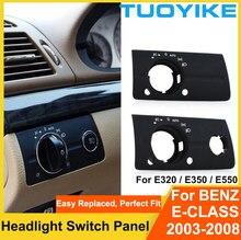 Interior do carro interruptor de farol interior botão painel capa guarnição substituição para mercedes benz w211 e-class e320 e350 e550 2003-2008