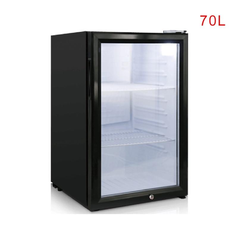 Small Refrigerator Food Sample Cabinet 70L Single Door With Lock Refrigerator Small Storage Cabinet