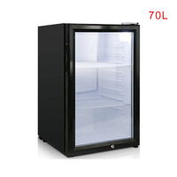 Small Refrigerator Food Sample Cabinet 70L Single Door With Lock Refrigerator Small Storage Cabinet