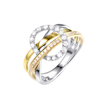 Female's Luxury Finger Ring Fashion Gold Silver Color Rings For Women Engagement Rings Promise Wedding Party Zircon Ring D5M561 viennois silver color rings for woman star rings coffee gold color ring jewelry wedding party female finger rings