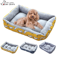 (S-3XL) Large Pet Cat Dog Bed 5Colors Warm Cozy Dog House Soft Fleece Nest Dog Baskets Mat Autumn Winter Waterproof Kennel