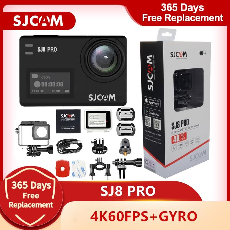 SJCAM-Cámara de acción SJ8 Pro 4K, 60fps, WiFi, casco remoto, Ambarella, Chipset 4K @ 60FPS, cámara Ultra HD para deportes extremos
