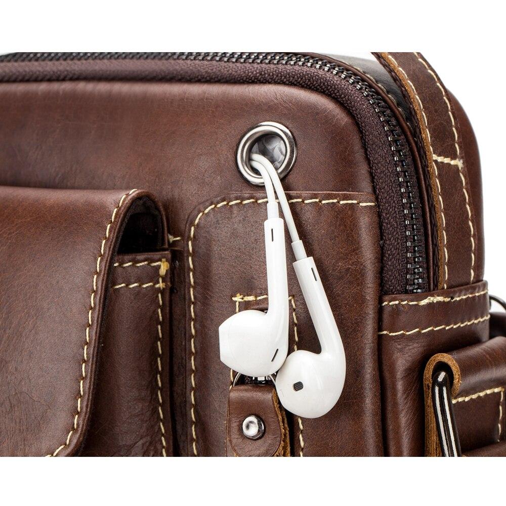 New Genuine Leather man Messenger Bags Vintage cow leather Small Shoulder bag for male men's Crossbody bag Casual Tote handbag Men Men's Bags cb5feb1b7314637725a2e7: Brown|Coffee|black
