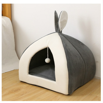 Cat Nest Four Seasons Universal Closed Pet Bed Cat House Villa Small Dog Kennel Winter Warm Cat Supplies image