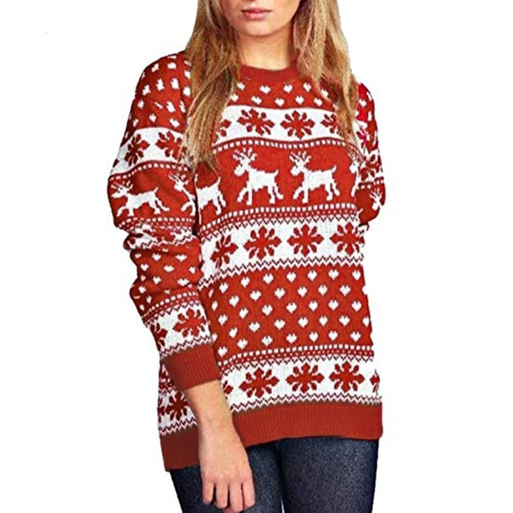 Merry Christmas Sweatshirt Women Winter Xmas Pullover Sweatshirt Female Snow Patterns Dot Print Long Sleeve Jumper Top