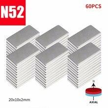 Супер редкоземельный неодимовый магнитный блок водомера прямоугольный N52 тонкий Магнит 10/20 Вт, 30 Вт/60 шт 20X10X2 мм# YL10