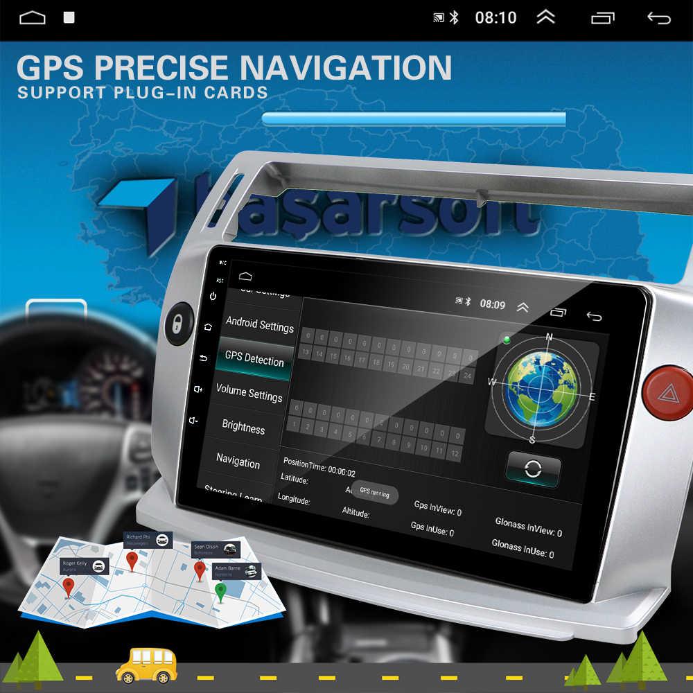 """2 din androidのカーマルチメディアプレーヤー 9 """"gps wifi autoradioシトロエンC4 c-triompheでc-キャトル 2004 -2009 citröen C4 パラスあの"""
