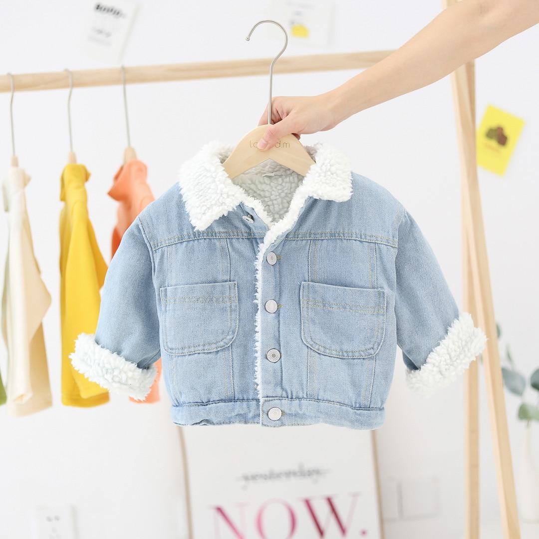 WLG/осенне-зимняя хлопковая верхняя одежда для мальчиков и девочек; теплое бархатное пальто