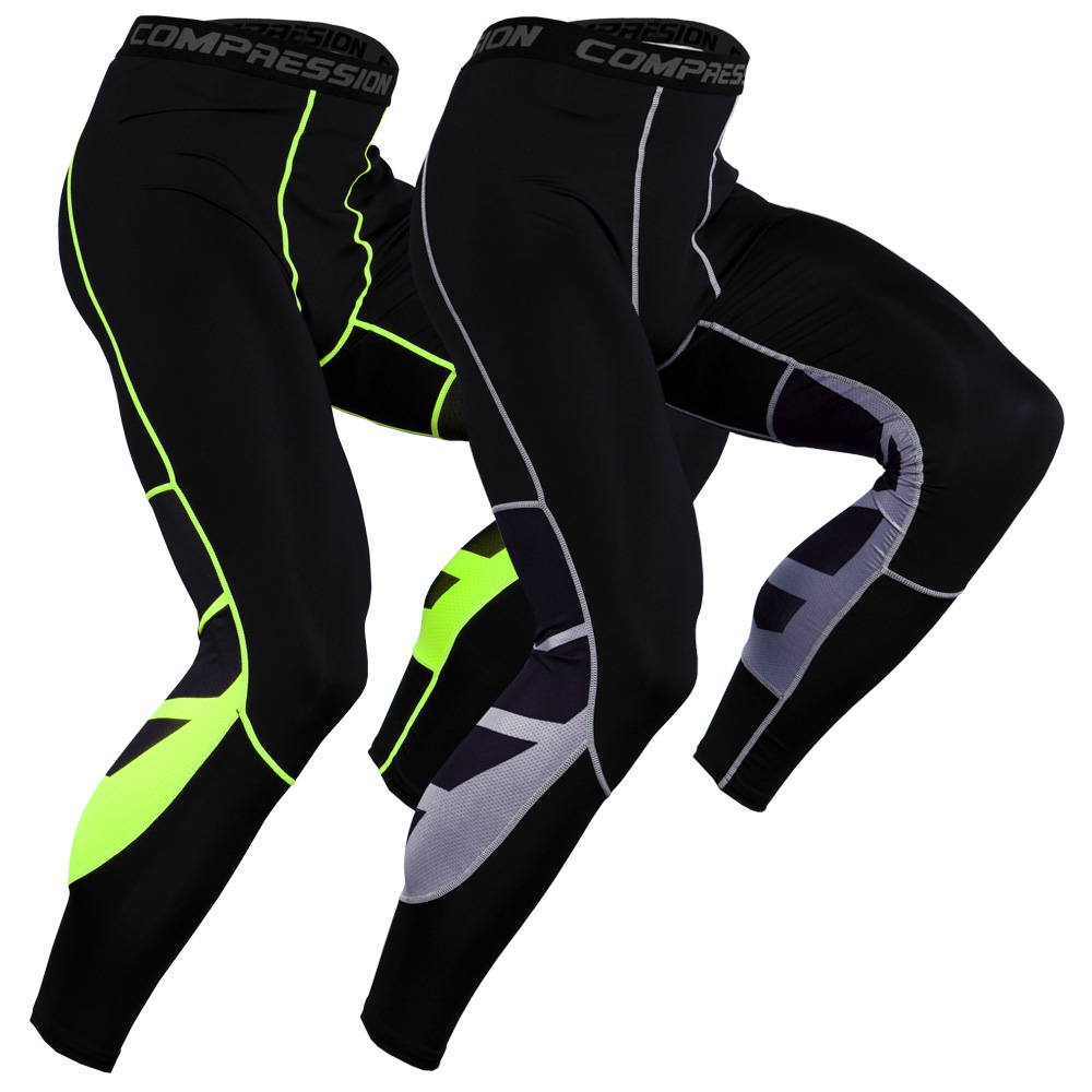 2019 Mens Compression Leggings Fitness Sweatpants Gyms Quick Dry Skinny Trousers Bodybuilding Workout Tight Joggers Pants Men