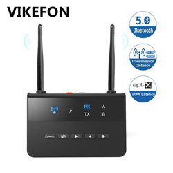 80M Bluetooth 5.0 Audio émetteur récepteur dérivation Aptx LL AAC stéréo sans fil adaptateur 3.5mm AUX 2 RCA pour TV voiture PC écouteurs
