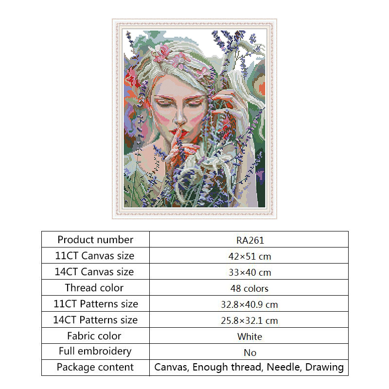Counted DMC Cross-stitch Kits for Embroidery Kits Woman 14ct 11ct Aida Fabric Printed Canvas Painting DIY Hand Crafts Needlewoek (3)