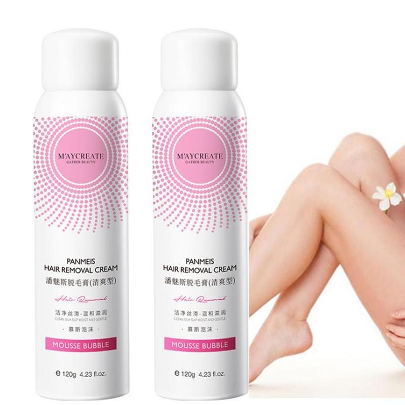 120ml Painless Hair Removal Spray Panmeis Hair Remover Cream Foam Depilation Spray For Men Women Summer Hair Remover