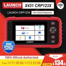 Lancio X431 CRP123X Strumento di Diagnostica Lettore di Codice Auto EOBD OBD2 Scanner Motore di Trasmissione ABS SRS AutoVIN WIFI PK CRP123 VII +