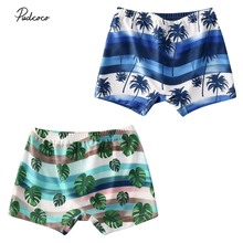 Pants Swimming Baby-Boy Shorts Flower-Print Toddler Kids Beach Summer Holiday Coconut-Tree