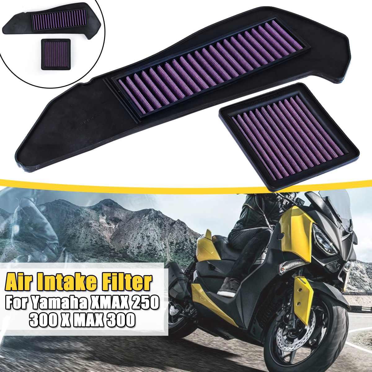 filtro de admissao de ar para motocicleta alto para filtro de fluxo para yamaha xmax 250
