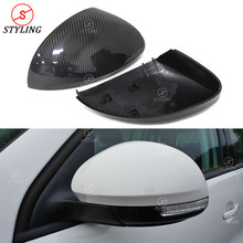 цена на For Volkswagen Sharan Tiguan Carbon Fiber Mirror Cover Free replacement style 2008 2009 2010 2011 2012