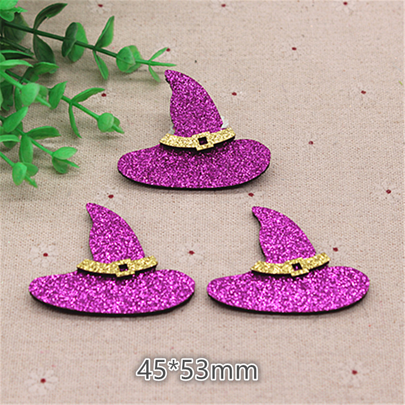 Witch Vintage Halloween Decor Woman Fabric Iron on Patch Craft Applique DIY