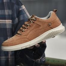 Fashion Men Genuine Leather Shoes Men Loafers Suede MenAll season Shoes Outdoor comfortable Shoes  men Walking Zapatos w5