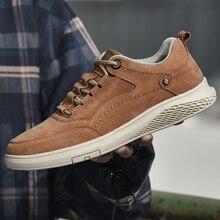 אופנה גברים אמיתי נעלי עור נעלי זמש MenAll עונה נעליים חיצוני נוח נעלי גברים הליכה Zapatos w5
