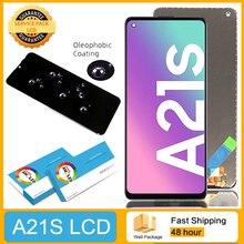 100% العرض الأصلي مع الإطار لسامسونج غالاكسي A21s A217 SM A217F/DS LCD شاشة تعمل باللمس محول الأرقام الجمعية إصلاح أجزاء