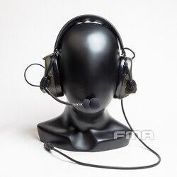 FMA airsoft tactical headset FCS ComTac 3 ACH C3 pickup tactische ruisonderdrukking communicatie headset DE