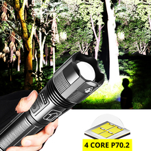 LED Flashlight Power-Display P70.2 Hiking Super-Bright 4-Core Camping ZK20 18650-Torch