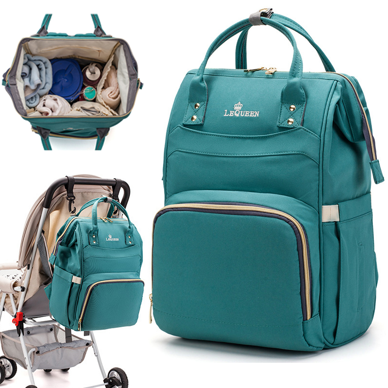 LEQUEEN Waterproof Diaper Bag For Mommy Maternal Nappy Backpack Infant Baby Organizer Changing Nursing Mother Pram Bag To Care