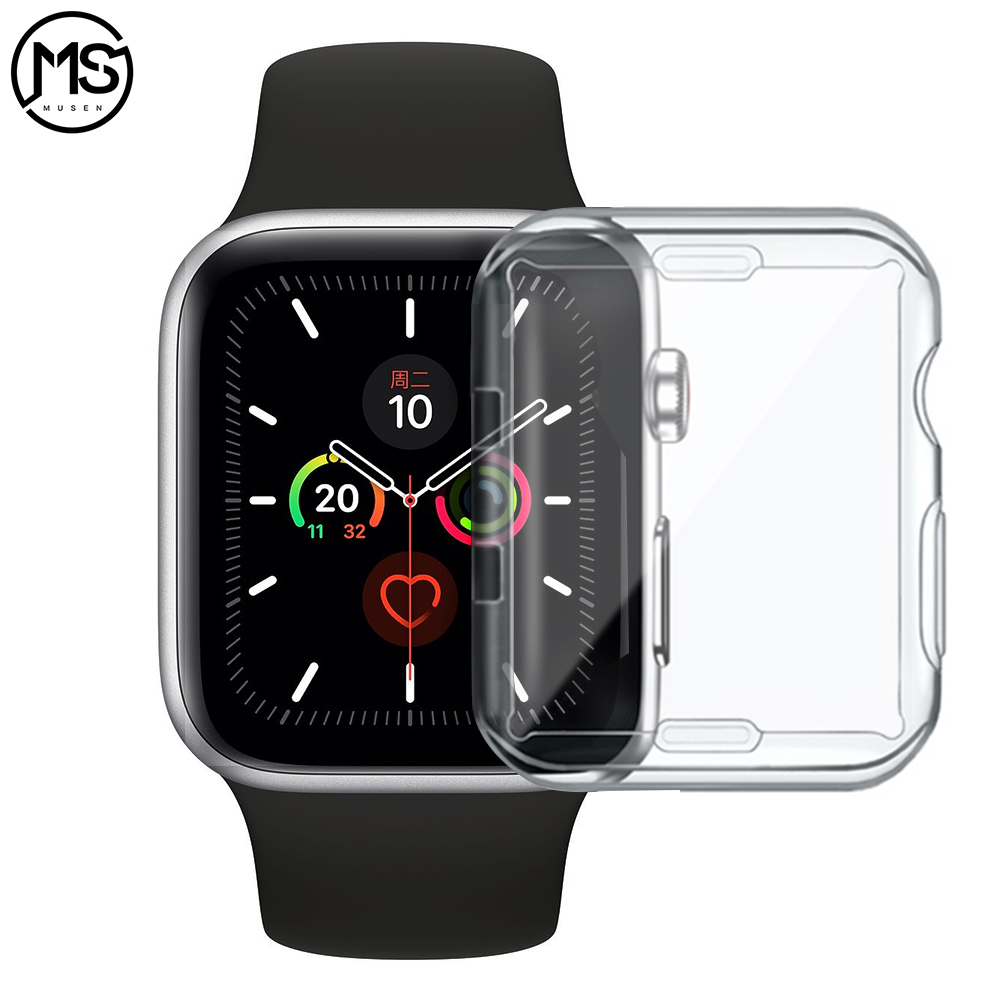 For Apple Watch Case 4 3 2 1 40MM 44MM 360 Built In Clear TPU Screen Protector Cover Full Case For Iwatch 5 38MM 42MM Accessorie