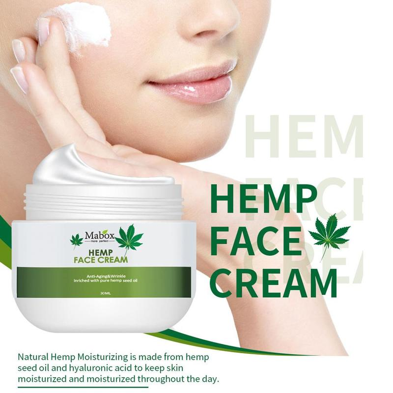 Natural Hemp Oil Face Cream Vitamin C Moisturizer Whitening Nourishing  Firming Brightening Face Care 30ml