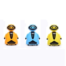 Inductive Electric Robot with LED Light Auto-Induction Car Follow Black Line Toy
