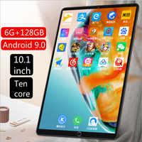 10 pulgadas clásico punto de cruz-frontera tableta de explosión PC WiFi Bluetooth GPS 4G llamada juego de aprendizaje tableta 6G + 128GB de capacidad