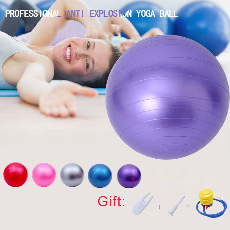 Free Pump- Burst Yoga Balls Resistant Fitness Gym Balance Fitball Exercise Workout Ball 45cm/55cm/65cm/75cm/85cm/95cm Ball
