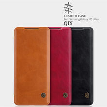 Genuine Nillkin Qin Leather Case Cover Card Pocket Ultra Slim For For Samsung Galaxy S20 Ultra A51 A71 S10 Lite Note 10 Lite
