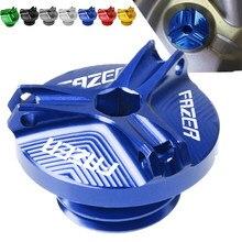 Fazer logo motocicleta m20 * 2.5 parafuso do filtro de óleo do motor parafuso de cobertura do parafuso para yamaha fz1 fazer 2001 2002 2003 2004 2005 2006 2007