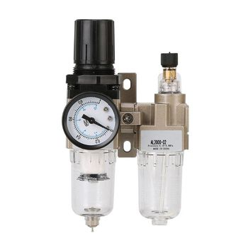 Manual Drainage Supply Air Pump Air Compressor Oil Filter Regulator Pneumatic Water Separator AC2010-02  G8TB ac2000 02 g1 4 standard type air source treatment unit pneumatic lubricator filter regulator