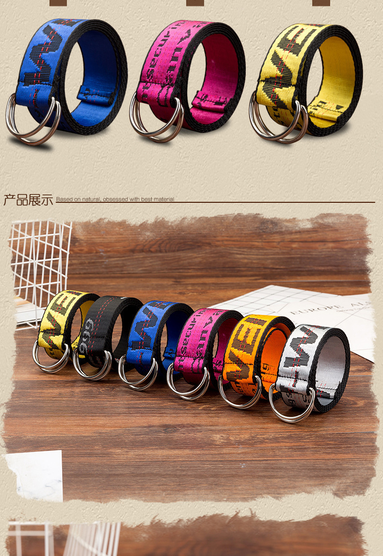 H43fc4d93702846919f326c25d0cea0d7V - Belts Women Fashion Personality Letter KINGSIZE Belts European and American Style High Quality Canvas Belt Big Size Belts