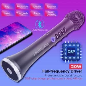 Image 5 - Lewinner L 698D Профессиональный Портативный беспроводной Bluetooth микрофон для караоке, 20 Вт