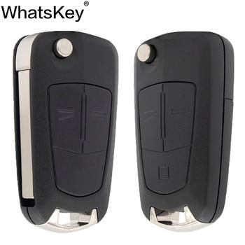WhatsKey 2 Button Flip Remote Folding Car Key Fob Case For Opel Vauxhall Corsa D Astra J G Zafira ''A Vectra B Mokka G Insignia keyyou 3 button car key remote case shell fob for opel vectra astra with key blade