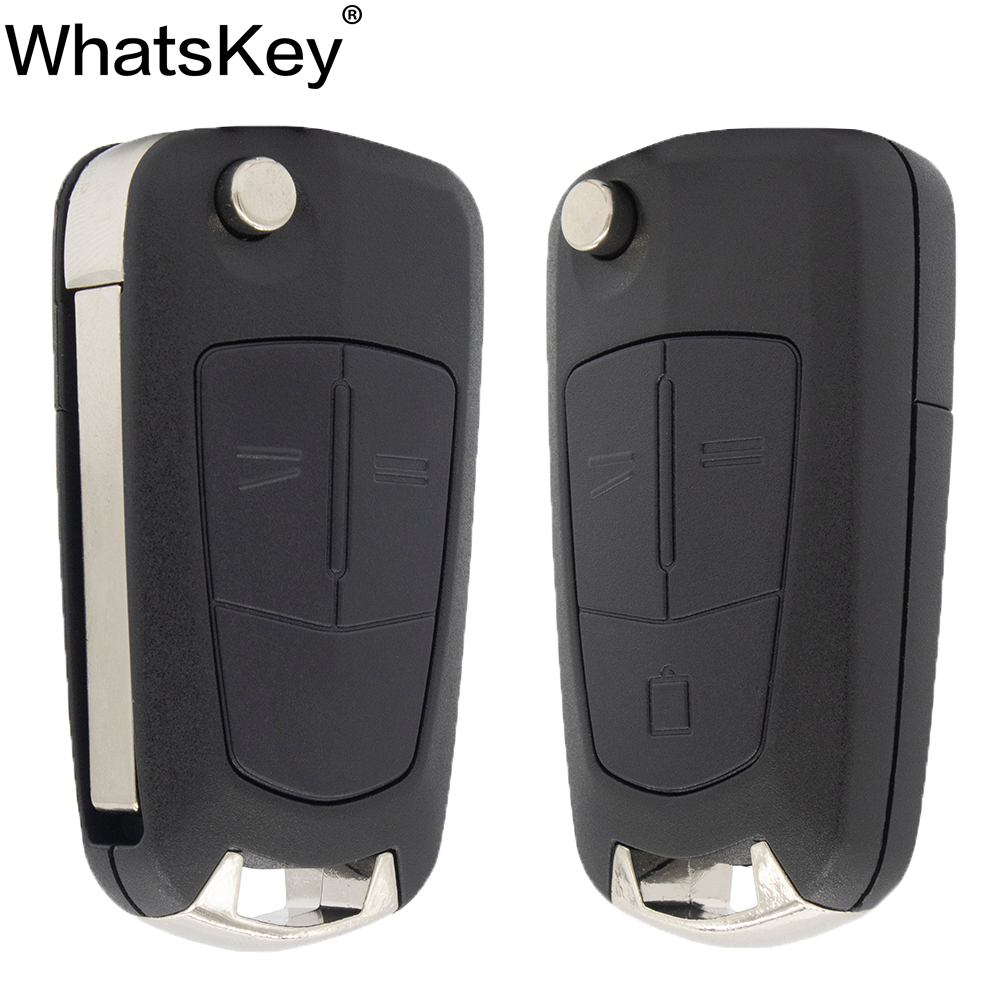 WhatsKey 2 Button Flip Remote Folding Car Key Fob Case For Opel Vauxhall Corsa D Astra title=