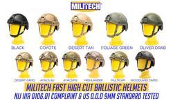 Баллистический шлем Militech NIJ Level IIIA 3A ISO сертифицированный Быстрый OCC циферблат High Cut XP Cut Aramid пуленепробиваемый шлем с HelmetBag