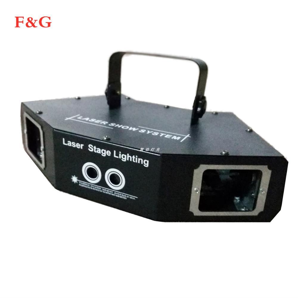Luz Láser De Discoteca RGB A Todo Color Haz De Luz Dj Efecto Proyector Escáner Iluminación Láser Para Escenario