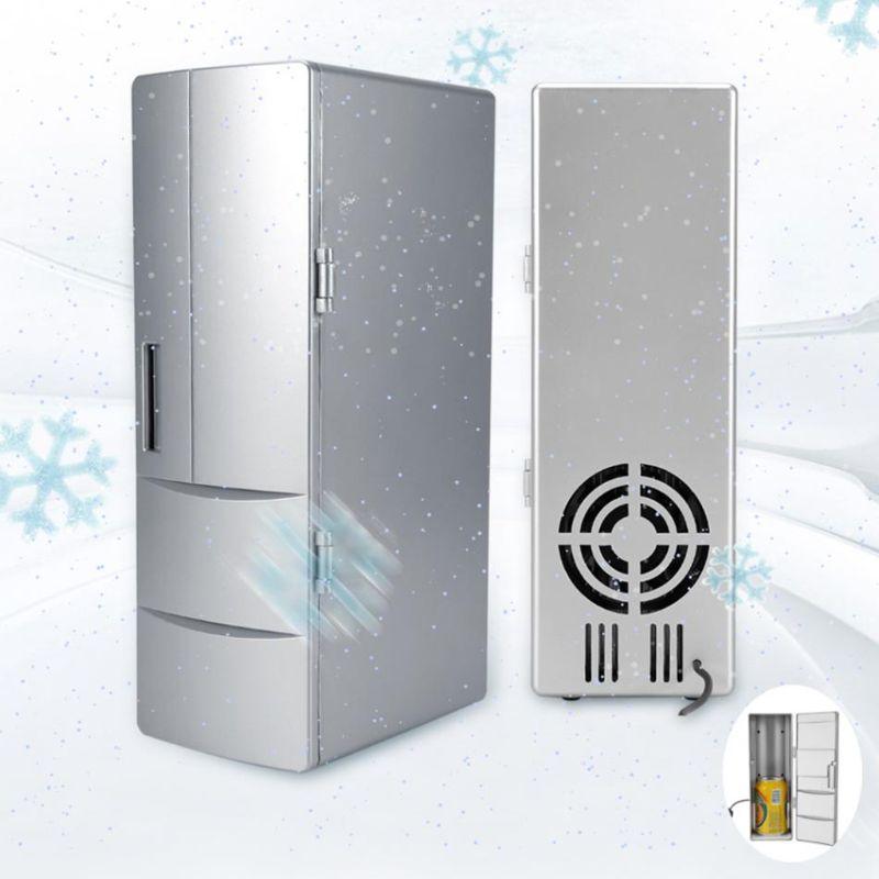 Portable Mini Laptop Fridge PC Refrigerator Beverage Drink Medicine Cold & Warm Box Beer Cooler